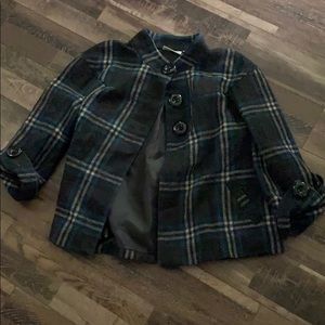 Short plaid coat